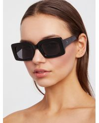 Free People - Babetown Square Sunglasses - Lyst