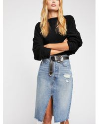 Free People - Levi's Deconstructed Long Skirt - Lyst