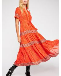 cead6c60a695 Free People Mixed Floral Maxi Dress in Pink - Lyst
