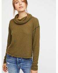 Free People | We The Free Thermal Turtleneck | Lyst