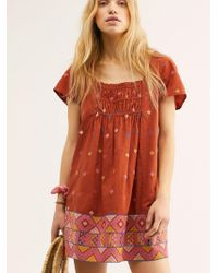 Free People - Desert Winds Embroidered Mini - Lyst