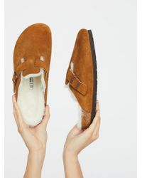 Free People - Boston Shearling Birkenstock - Lyst