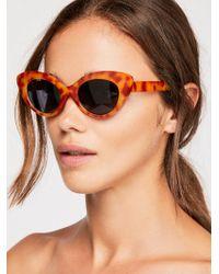 Free People - Mighty Fine Cat Eye Sunglasses - Lyst