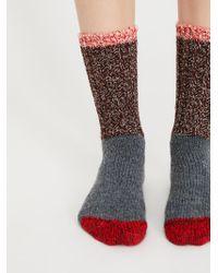 Free People - Merino Color Block Crew Sock - Lyst