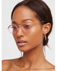 Free People - Drew Oval Aviator Sunglasses - Lyst