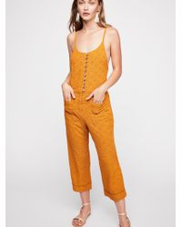 Free People - Honeycomb Jumpsuit - Lyst