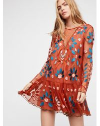 Free People - Hearts Are Wild Mini Dress - Lyst