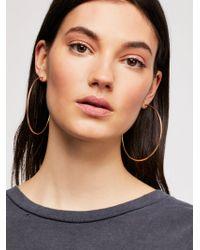 Free People - Cherry Bomb Ombre Hoop Earrings - Lyst