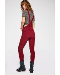 a826bae167 Free People - Slim Ankle Cord Overalls By We The Free - Lyst