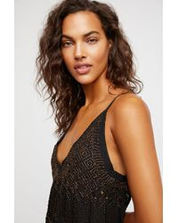 061002d84be73 Free People In Heaven Embellished Slip By Intimately - Chemise in Blue -  Lyst