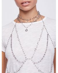 Free People - Raw Turquoise Stone Halter - Lyst