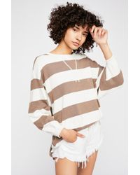 Free People - Surfin' On Your Stripes Jumper - Lyst