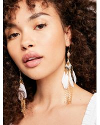 Free People - Majorelle Feather Earrings - Lyst
