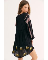 03bb7b0c Free People Moonglow Embellished Mini Dress in Black - Lyst