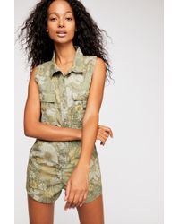 ae0bd74d9e4 Free People - Eden Camo Romper By Spell And The Gypsy Collective - Lyst