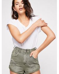 Free People - Oneteaspoon High-rise Bandit Denim Shorts - Lyst