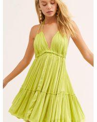 Free People - 100 Degrees Of Shine Mini Dress - Lyst
