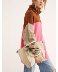 Free People - O-ring Faux Shearling Tote - Lyst