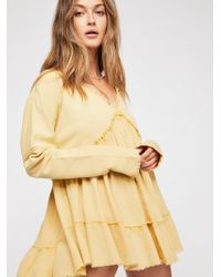 Free People - Sunshine's Out Pullover Hoodie - Lyst