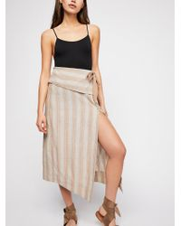 Free People - Now That I Found You Striped Skirt - Lyst