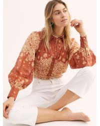 Free People Bet On My Love Blouse