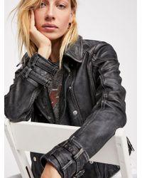 Free People - Avis Leather Jacket - Lyst