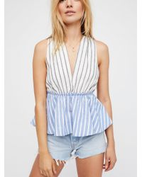 Free People - Lily Stripe Top - Lyst