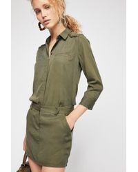 Free People - Military Denim Dress - Lyst