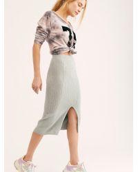 Free People - Skyline Midi Skirt - Lyst