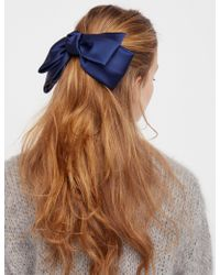 Free People - Silk Bow Barrette - Lyst