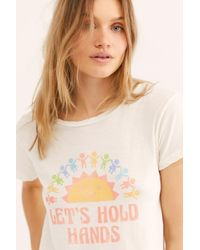 Free People - Let's Hold Hands Tee By Lna - Lyst