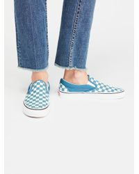 Free People - Classic Checkered Slip-on - Lyst