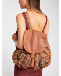 Free People - School's Out Leather Backpack - Lyst