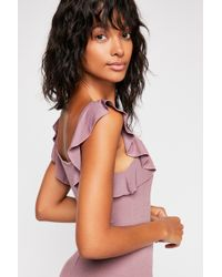 Free People - At Last Ruffle Tank By Intimately - Lyst
