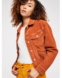 Free People - Nelson Cord Jacket - Lyst
