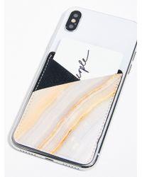 Free People - Printed Leather Phone Pocket - Lyst