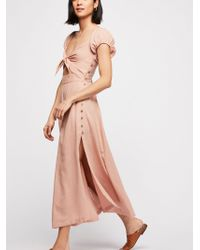 Free People - The Getaway Midi Dress - Lyst