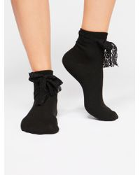 Free People - Lace Up Ribbon Crew - Lyst