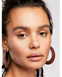 Free People - Wooden Hoop Earrings - Lyst