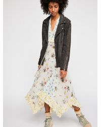 Free People - Long Suede Moto Jacket By Blank Nyc - Lyst