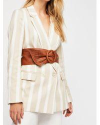 Free People - Terracotta Leather Wrap Belt - Lyst