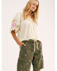 Free People - Long Stroke Military Shorts By Riley Vintage - Lyst
