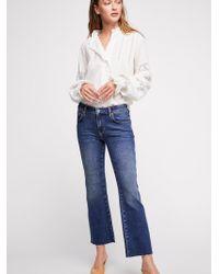 Free People - Rita Crop Flare Jeans - Lyst