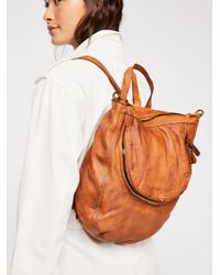 Free People - Beckett Leather Convertible Backpack - Lyst