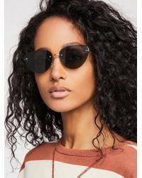 Free People - Capri Rimless Sunglasses - Lyst