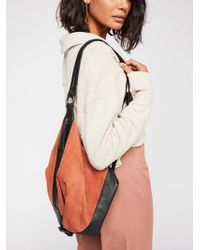 Free People - Serena Suede Slouchy Backpack - Lyst