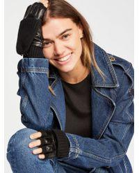 Free People - Soho Cashmere & Leather Glove By Carolina Amato - Lyst
