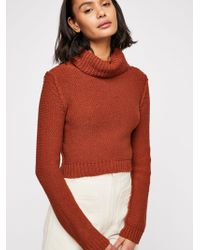 Free People - Solar Eclipse Pullover Sweater - Lyst
