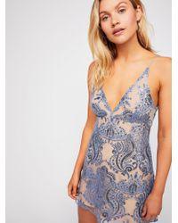 7d079c3401d2 Free People - Night Shimmers Mini Dress - Lyst