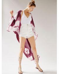 Free People - Spellbound Tie Dye Kimono - Lyst